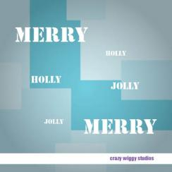 Merry Holly Jolly Business Holiday Cards