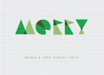 merry and minimal Business Holiday Cards