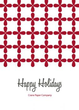 Red Petals Business Holiday Cards