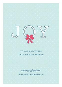 Joy To You Business Holiday Cards