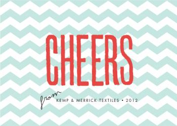 zig zag cheers Business Holiday Cards