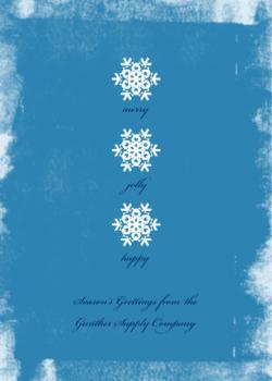 Snowflakes Business Holiday Cards