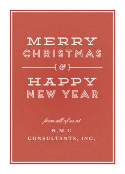 Merry & Happy Business Holiday Cards