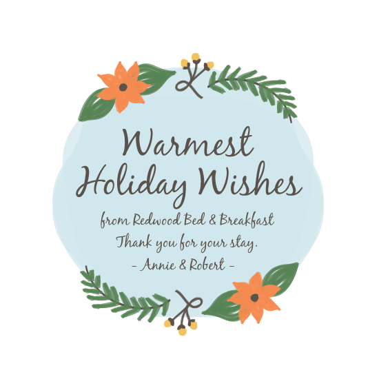 business holiday cards - Woodsy Warm Wishes by feb10 design