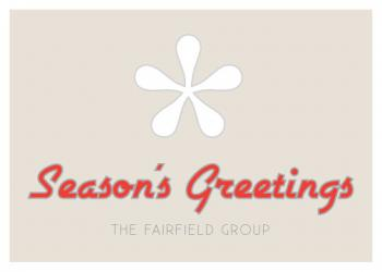 Asterisk Snowflake Business Holiday Cards
