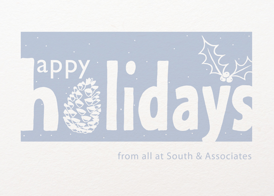 business holiday cards - Snow Coated Fir Cone by Ali and Adi