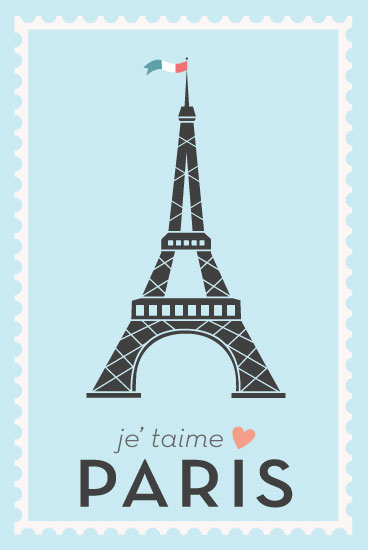 art prints - Je' taime Paris by Cathie Urushibata
