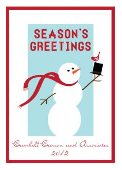 Mr Snowman Business Holiday Cards