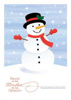 Revel in the Wonder Business Holiday Cards