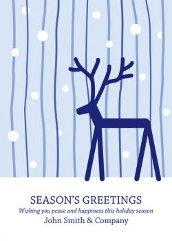 Winter Reindeer Business Holiday Cards