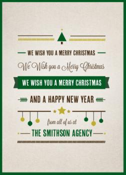 Rustic Christmas Business Holiday Cards