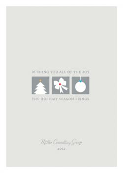 Holiday Icons Business Holiday Cards