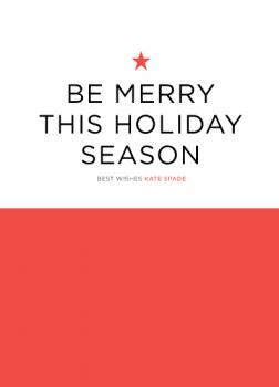 Color Block Merry Business Holiday Cards