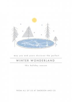winter wonderland Business Holiday Cards