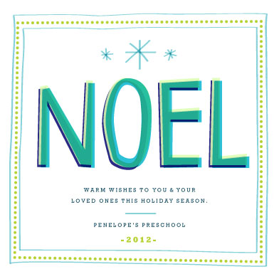 business holiday cards - NOEL Holiday Greeting by Ariana DiLibero