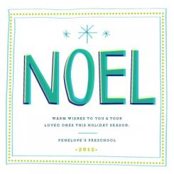 NOEL Holiday Greeting Business Holiday Cards