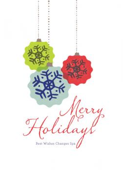 Ornaments and Merry