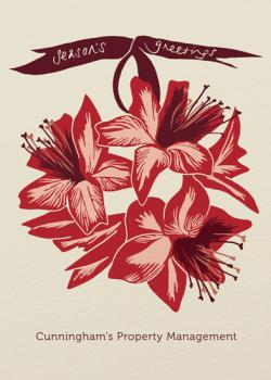 Amaryllis Bauble  Business Holiday Cards