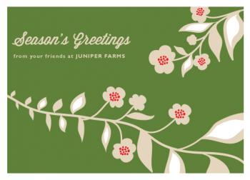 Festive Vines Business Holiday Cards