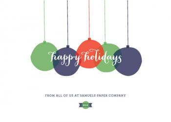 Modern Ornaments Business Holiday Cards