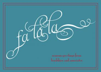 falalalala Business Holiday Cards