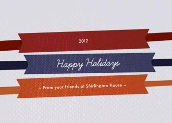 Bands of Holiday Business Holiday Cards