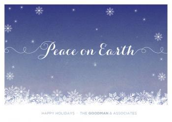 Calm Snow Business Holiday Cards