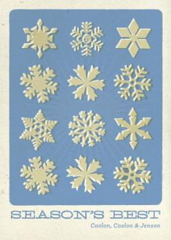 Retro Flakes Business Holiday Cards