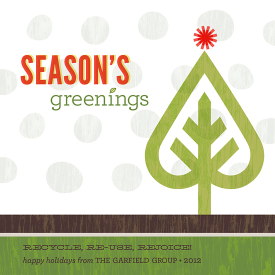 business holiday cards - season's greenings by Carol Fazio
