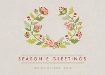Seasoned Wreath Business Holiday Cards