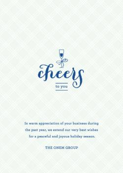 Vintage Cheers Business Holiday Cards