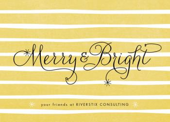 merry and bright Business Holiday Cards