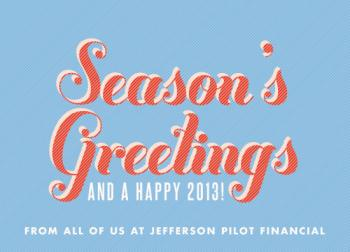 Striped Seasons Business Holiday Cards