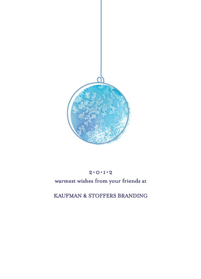 business holiday cards - Warmest Sparkle by Spotted Whale Design