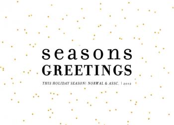 Modern Season Business Holiday Cards