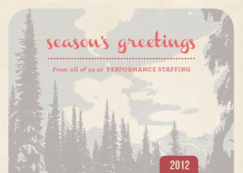 Mountain Pine Business Holiday Cards