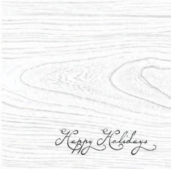 Wood Grain Business Holiday Cards