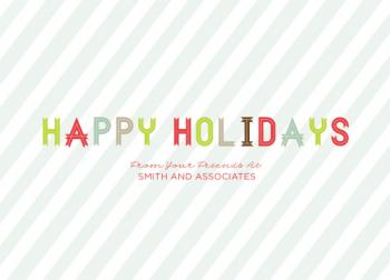 Candy Cane Merry Business Holiday Cards