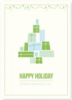 Greeting tree box Business Holiday Cards
