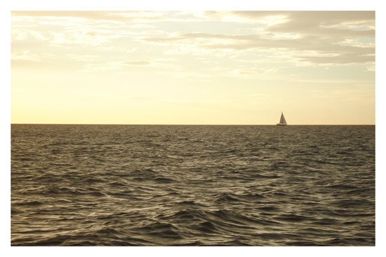 art prints - Sail Boat in Horizon by Ana Gonzalez