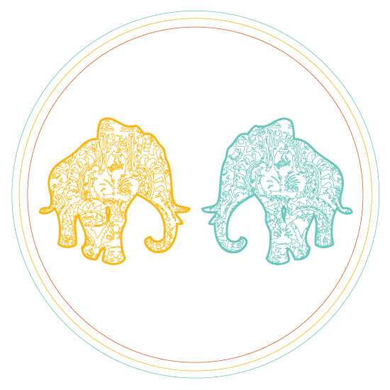 art prints - Elephant Love by Anna London