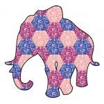 Patchwork Elephant by Anna London