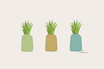 Pineapple Greeting Art Prints