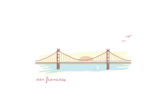 art prints - afternoon in san francisco  by chocomocacino