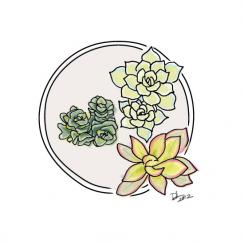Succulent Love Series Art Prints