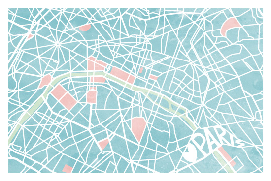 design - The Map of Paris by Four Wet Feet Studio