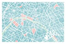 The Map of Paris by Four Wet Feet Design