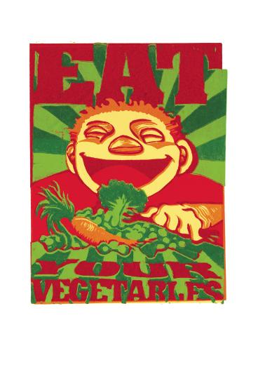 art prints - Eat Your Veggies by Susie Allen