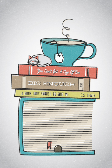 art prints - house of books by Frooted Design