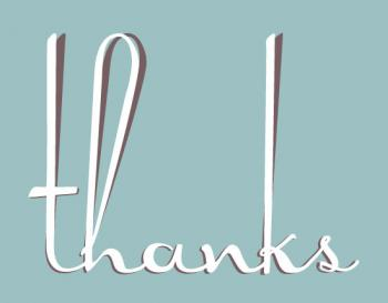 Tall Letters Thank You Cards